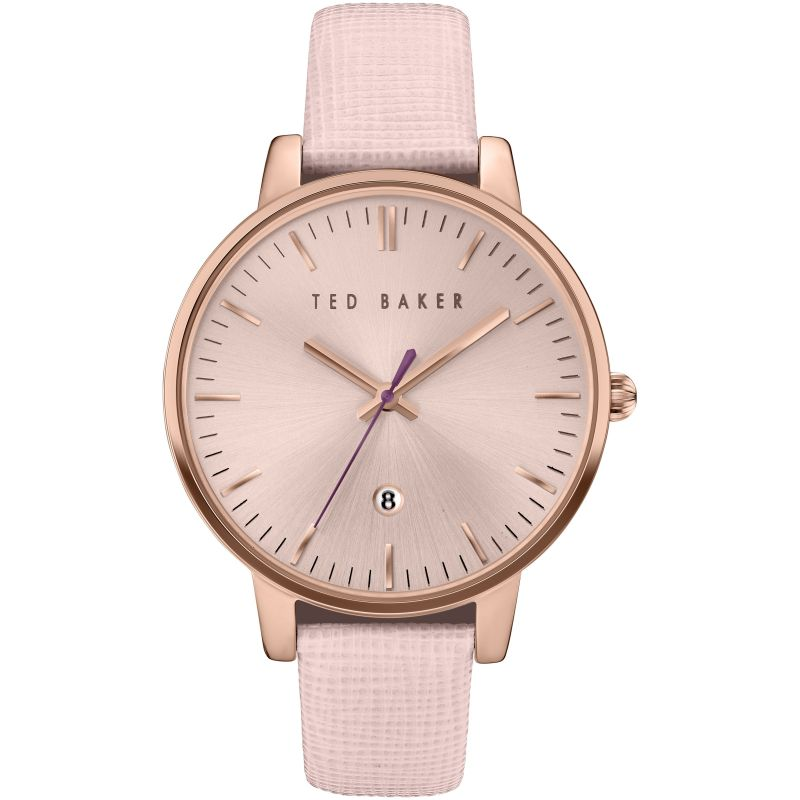 Ladies Ted Baker Kate Saffiano Leather Strap Watch TE10030737
