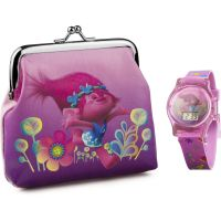 Childrens Character Trolls Gift Set Watch