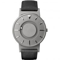 Unisex Eone The Bradley Canvas Black Strap Watch BR-C-BLACK