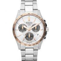 Herren Rodania Swiss Marin Herren Armband Chronograf Uhr