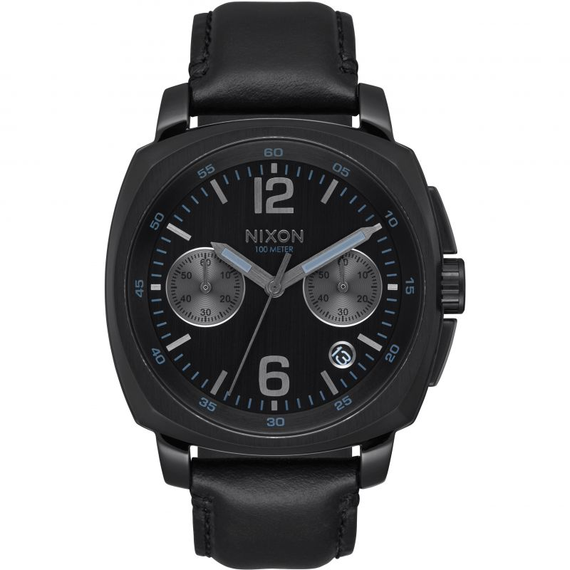 Unisex Nixon The Charger Chrono Leather Watch A1073-001