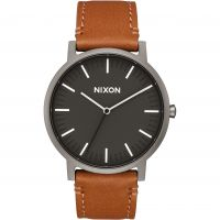 Nixon The Porter Leather Unisex horloge Bruin A1058-2494