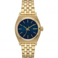 Nixon The Medium Time Teller Unisex horloge Goud A1130-1931