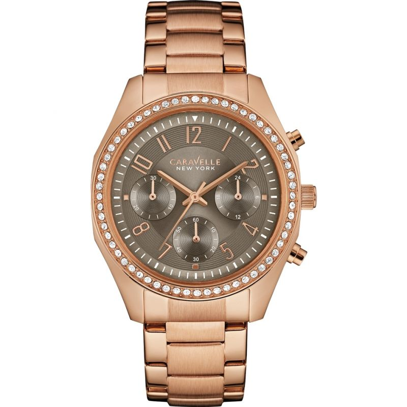 Ladies Caravelle New York Melissa Chronograph Watch 44L195