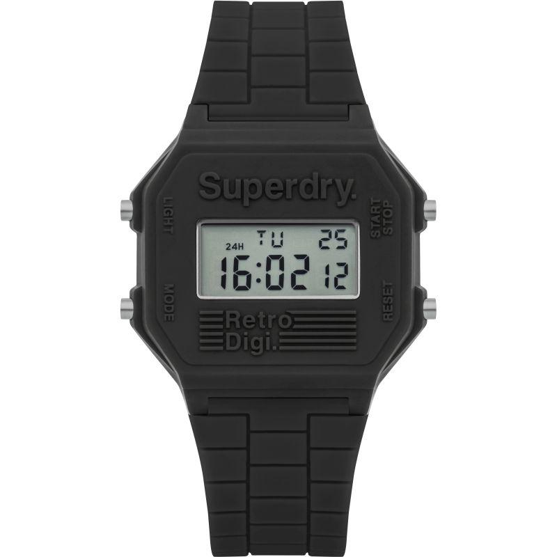 Herren Superdry Retro Digi Alarm Chronograph Watch SYG201E