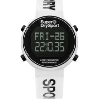 Unisex Superdry Digi Pedometer Chronograf Uhr