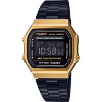 unisexe Casio Classic Leisure Alarm Chronograph Watch A168WEGB-1BEF