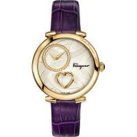 Damen Salvatore Ferragamo Cuore Diamond Watch FE2090016