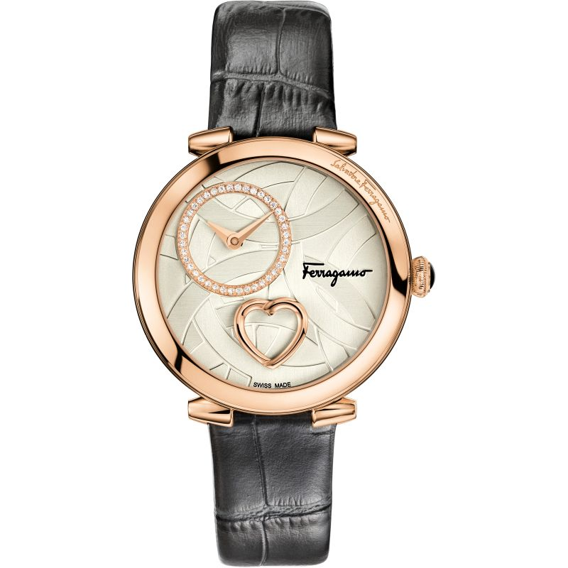 Damen Salvatore Ferragamo Cuore Diamond Watch FE2050016