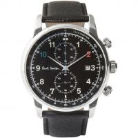 Mens Paul Smith Block Leather Strap Chronograph Watch P10140