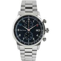 Herren Paul Smith Block Metall Armband Chronograf Uhr