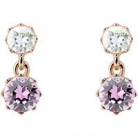 Ted Baker Dames Connolee Crystal Crown Short Earrings PVD verguld Rose TBJ1470-24-34