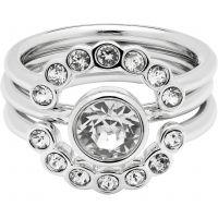 Damen Ted Baker Silber Plated Cadyna Concentric Kristall Ring Größe SM