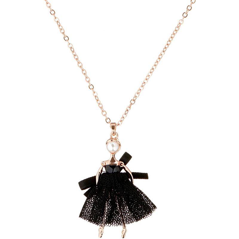 Ladies Ted Baker Rose Gold Plated Carabel Mini Ballerina Necklace TBJ1323-24-05