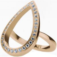 Ladies STORM Rose Gold Plated Elipsia Ring Size L