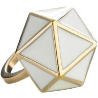 Ladies STORM Gold Plated Geo Ring Size M