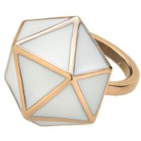 Ladies STORM Rose Gold Plated Geo Ring Size P