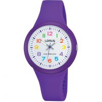 Kinder Lorus Soft purple silicone strap Uhr