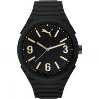 Herren Puma PU10359 GUMMY - black gold Uhr