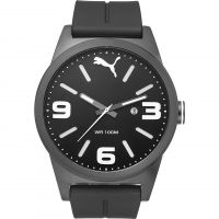 Herren Puma PU10409 CAT INSTINCT - black white Uhr