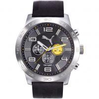 Herren Puma PU10422 DEFINITION - silver black yellow Watch PU104221002