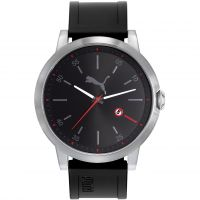 Herren Puma PU10423 LIBERATED - silver black red Watch PU104231001
