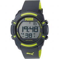Herren Puma PU91122 SIXTY BYTES - grey yellow Wecker Chronograf Uhr