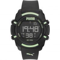 Herren Puma PU91122 SIXTY BYTES - black luminous Wecker Chronograf Uhr