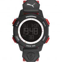 Herren Puma PU91127 TRINOMIC - red white Wecker Chronograf Uhr