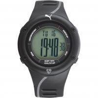 Mens Puma PU91136 CARDIAC 01 - black grey Alarm Chronograph Watch