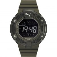 Herren Puma PU91138 COLLIDE DIGITAL - army green Wecker Chronograf Uhr