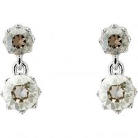 Ladies Ted Baker Silver Plated Connolee Crystal Crown Short Earring TBJ1470-01-230