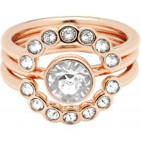 Ladies Ted Baker Rose Gold Plated Cadyna Concentric Crystal Ring SM