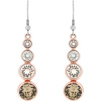 Ladies Karen Millen PVD rose plating Crystal Drop Earrings KMJ047-24-161