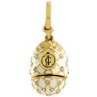 Damen Juicy Couture PVD Gold überzogen Faberge Egg Anhänger