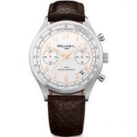 Herren William L 1985 Vintage Chrono Chronograph Watch WLAC01BCORBM
