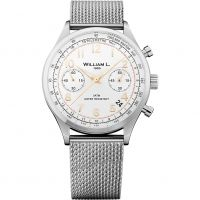 Herren William L 1985 Vintage Chrono Chronograph Watch WLAC01BCORMM