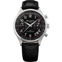 homme William L 1985 Vintage Chrono Chronograph Watch WLAC01NRBN