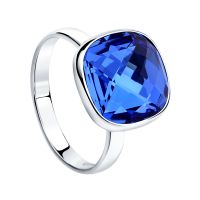 Ladies Sokolov Sterling Silver Express Yourself Blue Crystal Ring Size N