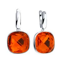 Ladies Sokolov Sterling Silver Express Yourself Red Crystal Earrings