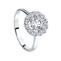 Damen Sokolov Sterlingsilber Größe N Starlight Cluster würfelförmig Zirconia Ring