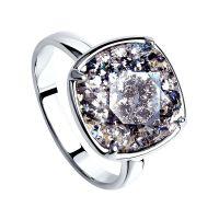 Damen Sokolov Sterlingsilber Größe N Vintage Kristall Ring