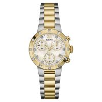 Bulova Diamond Gallery Dameschronograaf Tweetonig 98R209