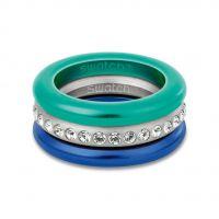 Damen Swatch Bijoux Edelstahl Merry Blau Ring Größe L