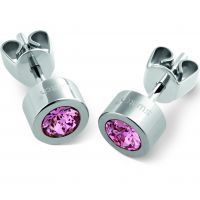 femme Swatch Bijoux Puntoluce Rose Crystal Stud Earrings Watch JEP018-U