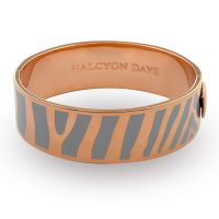 Damen Halcyon Days vergoldet Zebra Armreif