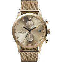 Herren Triwa Sort of Schwarz Gold Chrono Geschenk-Set Chronograf Uhren