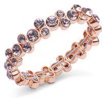 Ladies Anne Klein Gold Plated Cluster Stretch Bracelet 60446664-9DH