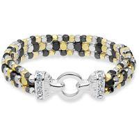 Ladies Nine West Two-tone steel/gold plate Multi Row Stretch Bracelet 60450259-Z01