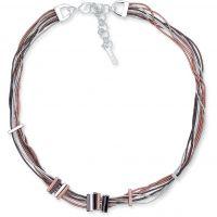 Ladies Nine West Multi colour gold Snake Chain Collar Necklace 60450578-Z01